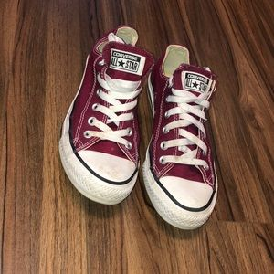 Maroon Low Top Converse